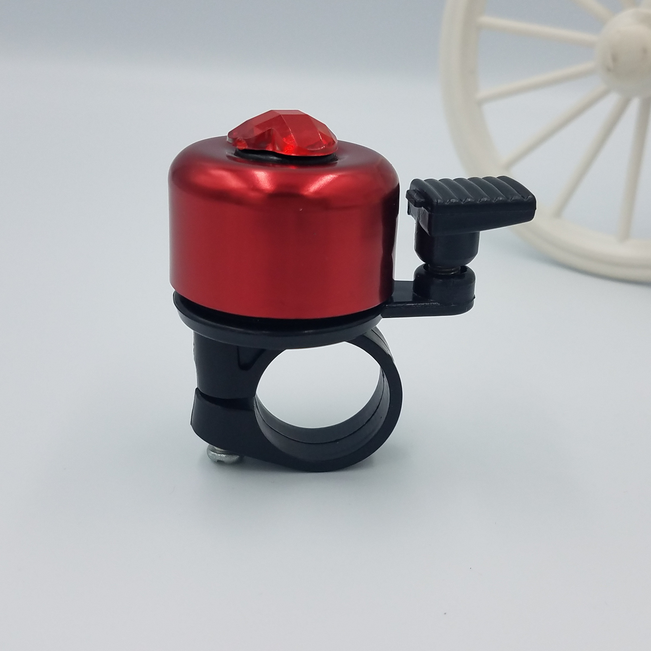 knocking small bicycle bell